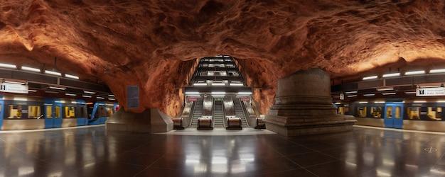 Estação de metrô radhuset uma das estações mais bonitas e famosas da cidade