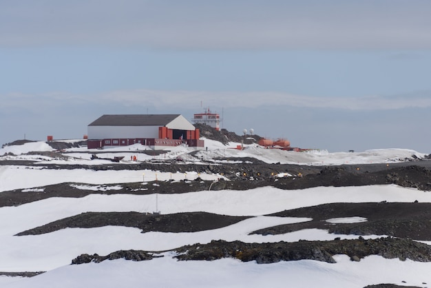 Estação de pesquisa antártica chilena na ilha king george