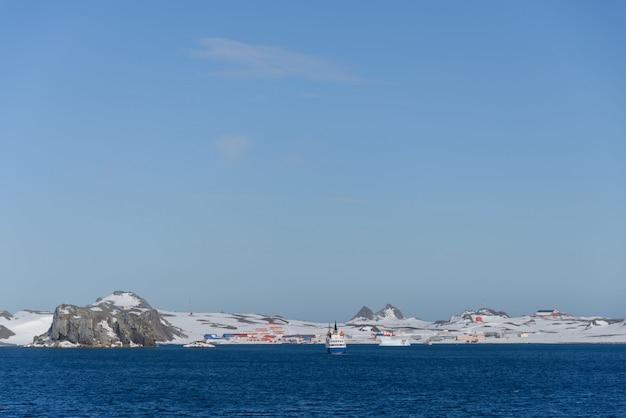 Estação de pesquisa antártica russa de bellingshausen