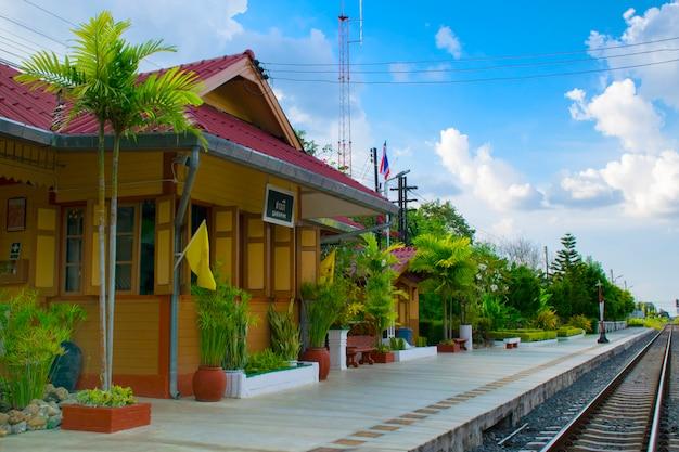 Estação ferroviária de saraphi em chiangmai, tailândia