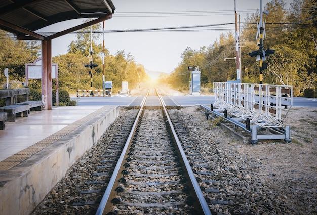 Estação ferroviária na tailândia