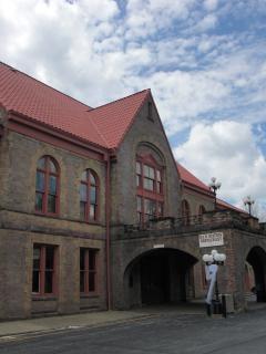 Estação ferroviária - vintage