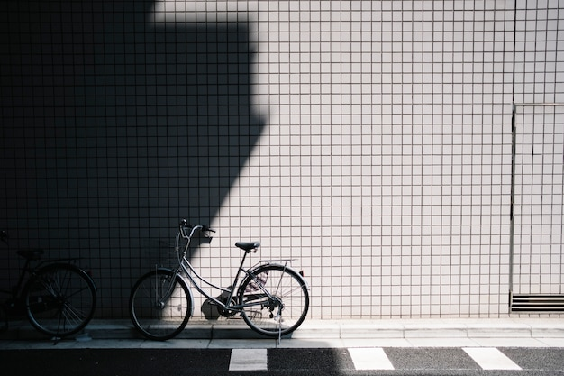 Estacionamento de bicicletas na rua
