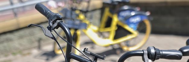 Estacionamento para aluguel de bicicletas na cidade aluguel de bicicletas para turistas