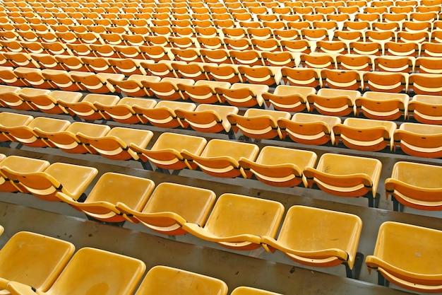 Estádio de assento amarelo