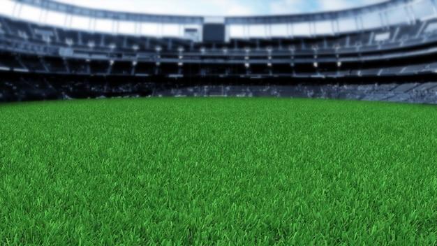 Estádio de grama 3d render
