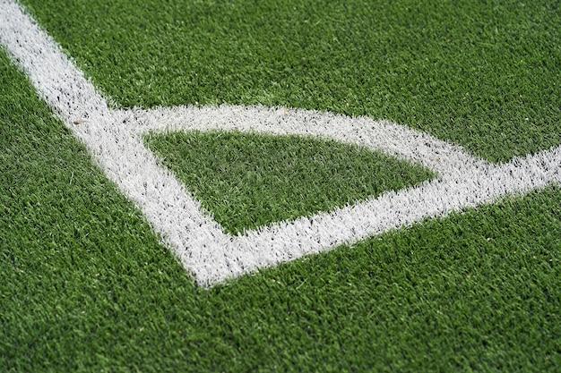 Estádio de grama artificial na espanha. linha de canto