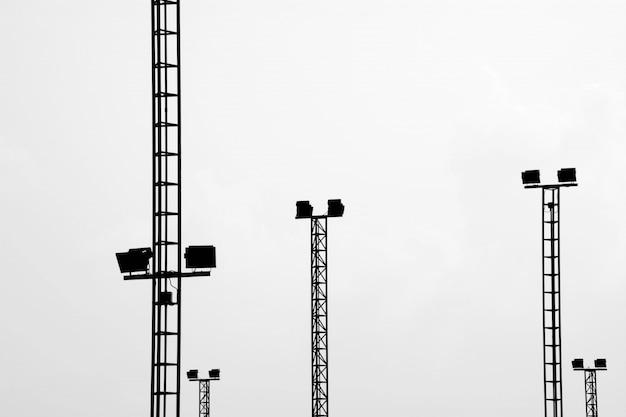Estádio de luzes em branco