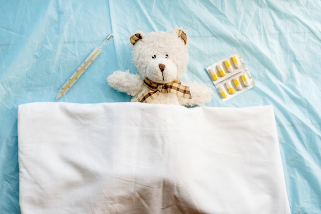 Estado de doença, gripe ou resfriado