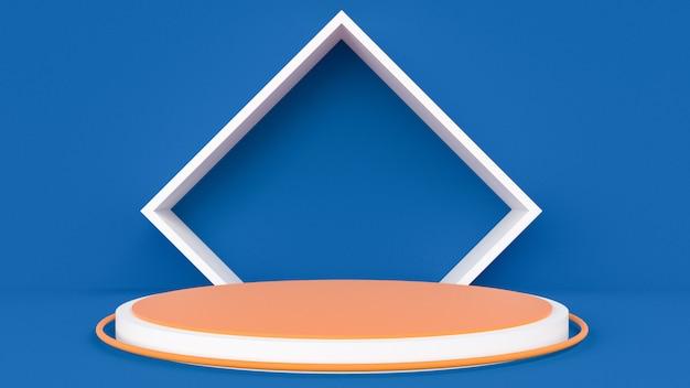 Estágio 3d abstrato para apresentação do produto