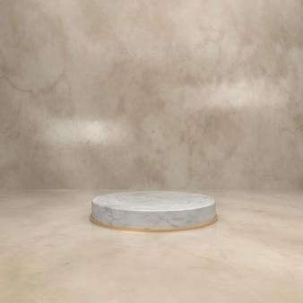 Estágio de círculo de mármore para vitrine de produtos