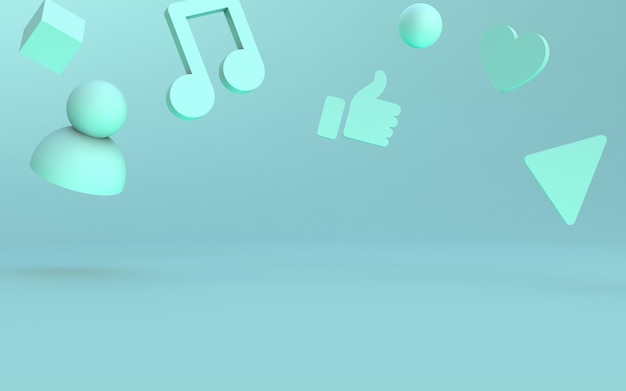 Estágio de ícones de mídia social