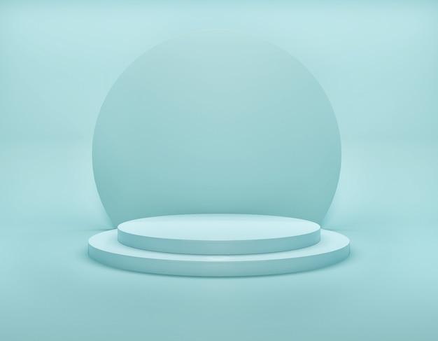 Estágio moderno simples geométrico de cor azul