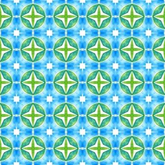 Estampa energética têxtil pronta, tecido de biquíni, papel de parede, embalagem. design de verão chique de boho verde. borda verde orgânica na moda. ladrilho orgânico.