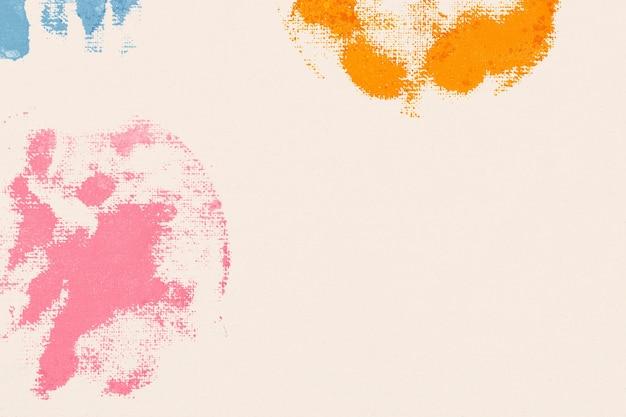 Estampas artesanais de fundo com padrão de flores coloridas