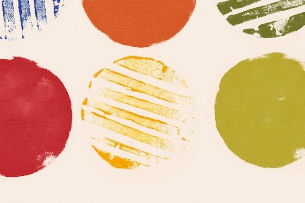 Estampas artesanais de fundo de padrão de círculo colorido