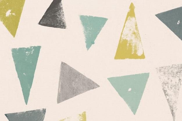 Estampas artesanais de fundo de triângulo verde