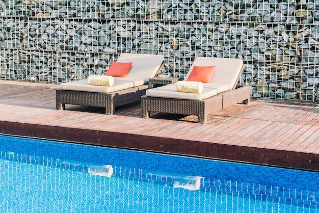 Estância de piscina do hotel