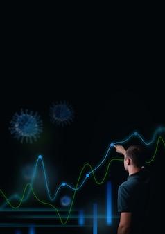 Estatística do vírus corona diagrama da pandemia rastreando o progresso da epidemia de coronavírus novos casos