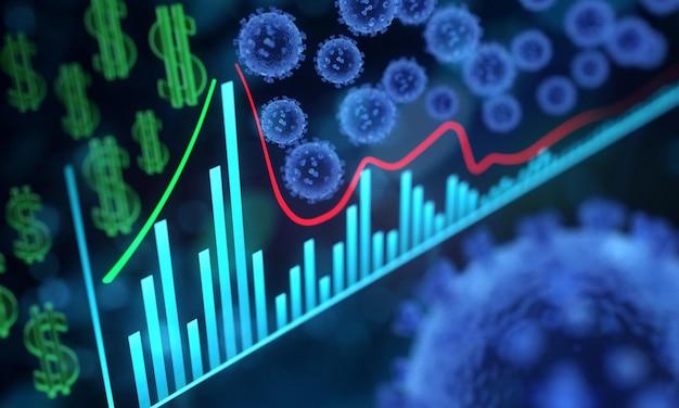 Estatísticas de impacto financeiro | Foto Premium