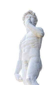 Estátua com branco. trajeto de grampeamento