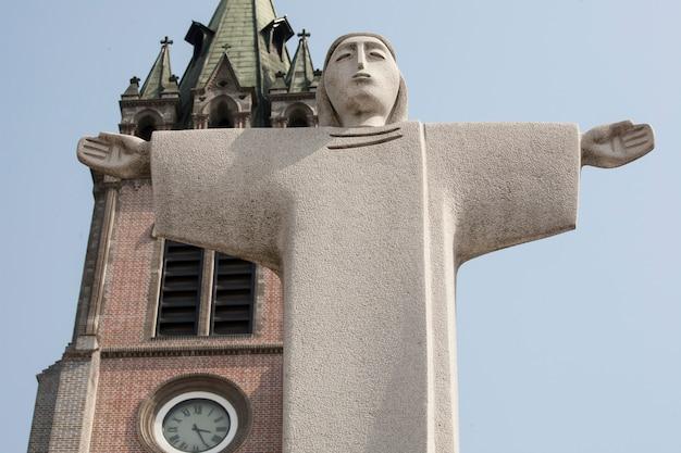 Estátua de jesus, seul, coréia