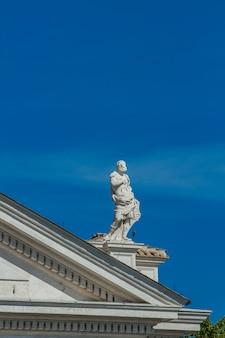 Estátua, de, são, peter, quadrado, em, vaticano