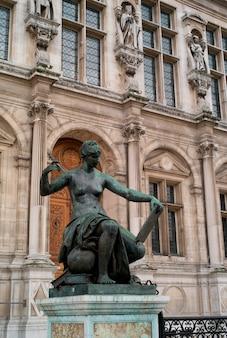 Estátua, em, frança paris