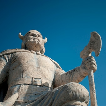 Estátua viking, em, gimli, manitoba, canadá