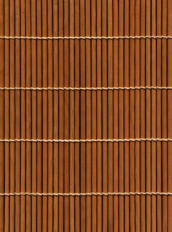 Esteira de bambu asiática