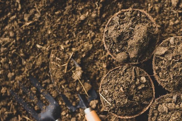 Esterco ou estrume para o plantio.