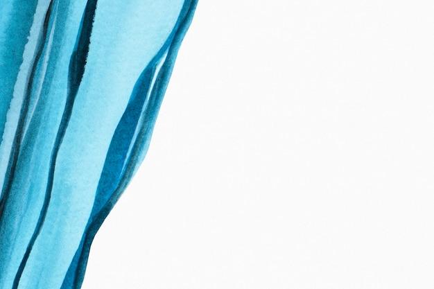 Estilo abstrato de fundo aquarela com borda azul