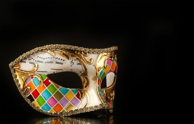 Estilo arlequim máscara veneziana