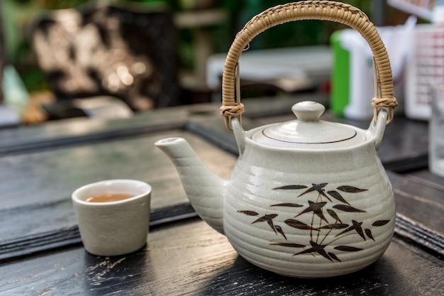 Estilo chinês do tempo-vintage do chá