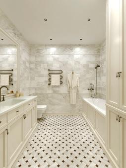 Estilo clássico de banheiro
