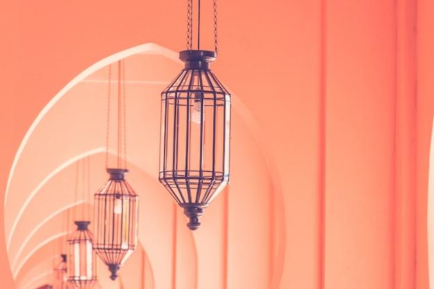Estilo da arquitetura de marrocos da lâmpada da luz do vintage