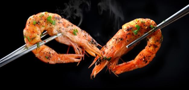 Estilo de churrasco de camarão
