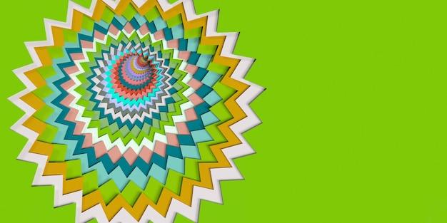 Estilo de corte de papel abstrato colorido ilustração 3d