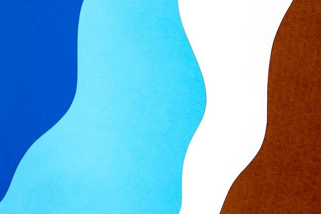 Estilo de fundo de formas de papel colorido