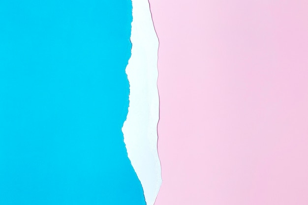 Estilo de fundo de papel rosa e azul