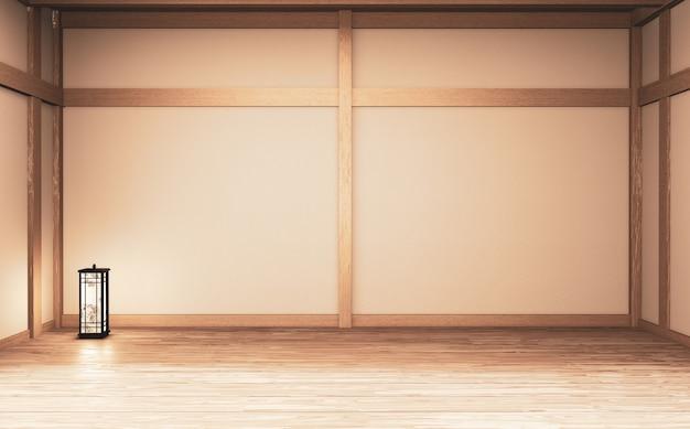 Estilo de interior vazio quarto japão. renderização em 3d