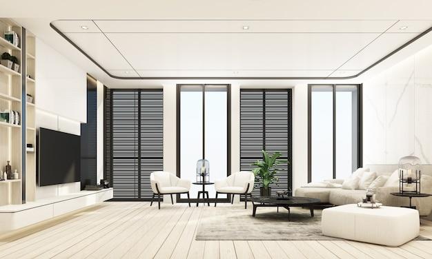 Estilo de luxo moderno de sala de estar