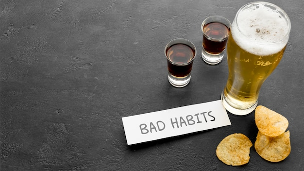 Estilo de vida saudável com maus hábitos