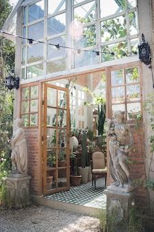 Estilo ecológico de decoração exterior verde eco