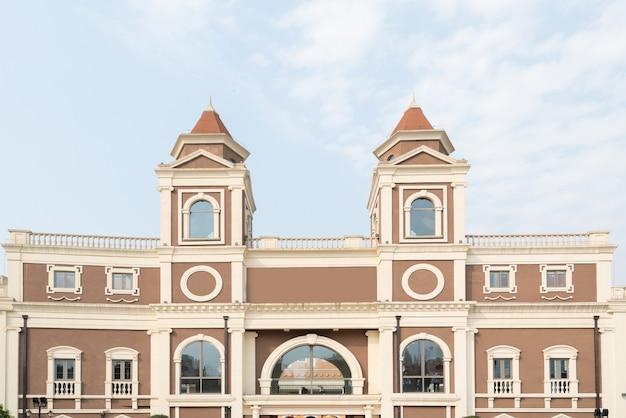 Estilo europeu cidade edifício no centro comercial de chongqing, china