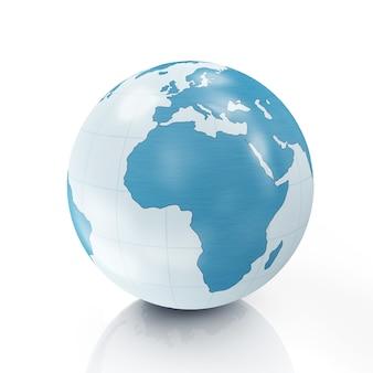 Estilo globo terrestre isolado no branco