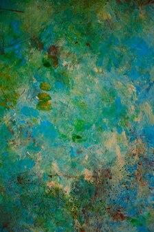 Estilo grunge com textura de fundo de cor clássico. arte de paredes pintadas abstratas em cores antigas de azul, verde, amarelo e bege. cor da textura do grunge. incrível, moderno, abstrato. copie o espaço