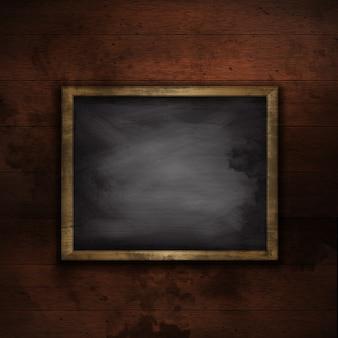 Estilo grunge fundo woodedn com um quadro em branco