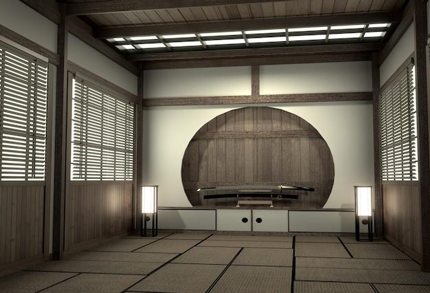Estilo japonês original da sala, era de showa, projeto com a melhor rendição dos desenhadores japoneses room.3d