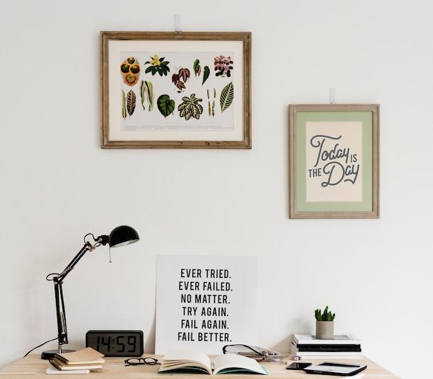 Estilo minimalista do espaço de trabalho